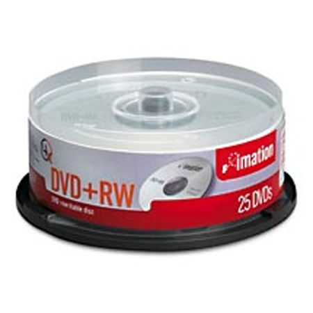 Imation 4x DVD+RW Media 4.7GB 25pk Spindle