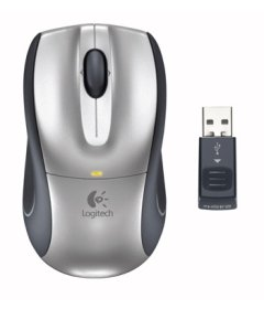Logitech V320 Cordless Optical Mouse - Silver