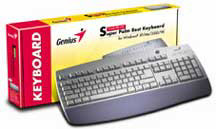 GENIUS USB KEYBOARD W'98 PALMREST